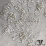 French Couture Beaded Lyon Lace - White