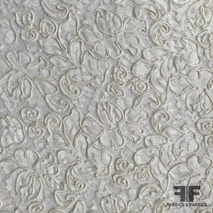 Couture Floral Soutache Lace - Off-White - Fabrics & Fabrics NY