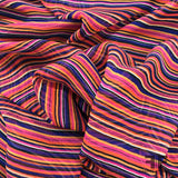 Stripe Printed Silk Chiffon - Pink/Orange/Purple - Fabrics & Fabrics