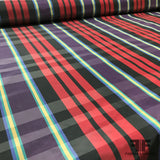 Plaid Silk Taffeta - Purple/Red/Yellow/Blue - Fabrics & Fabrics