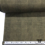 Italian Glenn Plaid Silk Faille - Green/Tan - Fabrics & Fabrics