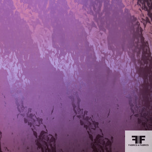 Abstract Silk Jacquard - Violet