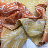 Ombré Floral Brocade - Red/Orange/Yellow - Fabrics & Fabrics