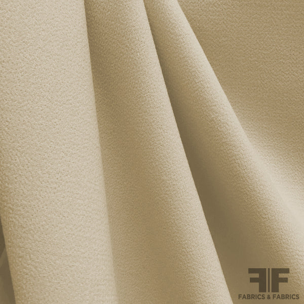 Italian Double Faced Wool Crepe - Sand - Fabrics & Fabrics