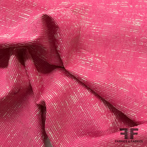 Exposed Thread Brocade - Hot Pink/White