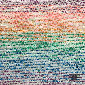 Rainbow Textured Brocade - Multicolor - Fabrics & Fabrics