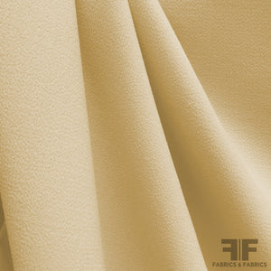Italian Double Faced Wool Crepe - Yellow-Beige - Fabrics & Fabrics