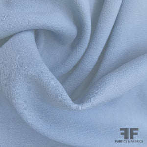 Italian Double Faced Wool Crepe - Blue/Grey - Fabrics & Fabrics