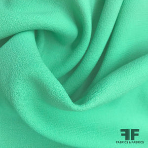 Italian Double Faced Wool Crepe - Mint - Fabrics & Fabrics