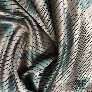 French Abstract Taffeta - Pink/Grey - Fabrics & Fabrics