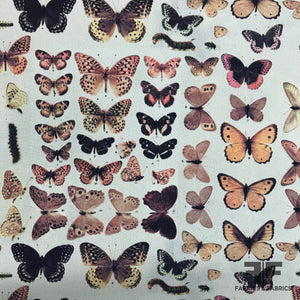 Butterfly Printed Georgette - Multicolor - Fabrics & Fabrics NY