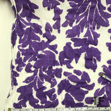 Abstract Printed Cotton - Purple/White - Fabrics & Fabrics NY