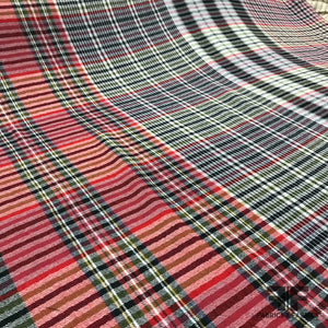 Plaid Light-Weight Wool Flannel - Multicolor - Fabrics & Fabrics
