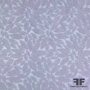 Floral Textured Brocade - Purple - Fabrics & Fabrics