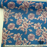 Floral Silk Printed Georgette - Blue/Purple/White - Fabrics & Fabrics