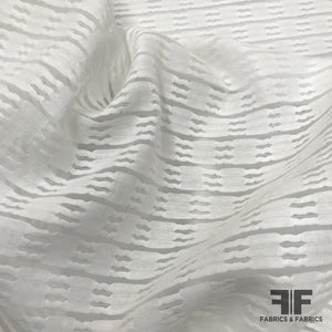 Textured Semi Sheer Cotton - White - Fabrics & Fabrics