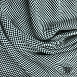 Checkered Brocade With Metallic Thread - Black/White/Silver - Fabrics & Fabrics