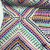Geometric Border Printed Silk Georgette - Multicolor