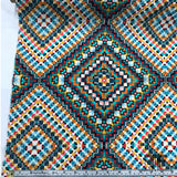 Psychedelic Geometric Printed Silk Georgette - Multicolor - Fabrics & Fabrics