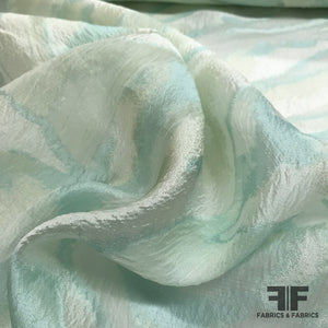 Italian Abstract Fil Coupe Textured Novelty Organza - Mint