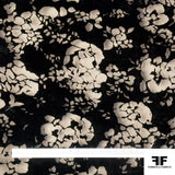 Floral Burnout Velvet - Black