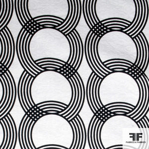 Circle and Ring Printed Cotton - Black/White - Fabrics & Fabrics NY