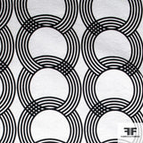 Circle and Ring Printed Cotton Jacquard - Black/White