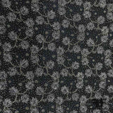 Couture French Floral Beaded Netting - Black/Gold - Fabrics & Fabrics