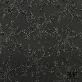 Couture Floral Beaded Netting - Black - Fabrics & Fabrics