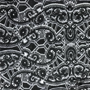Burnout Italian Novelty Woven - Black/White - Fabrics & Fabrics