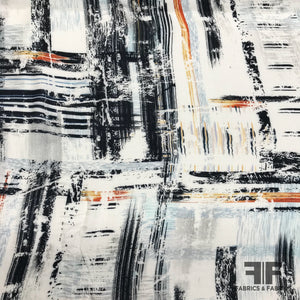 Abstract Painterly Printed Rayon - Multicolor - Fabrics & Fabrics