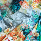 Floral Printed Polyester - Multicolor - Fabrics & Fabrics