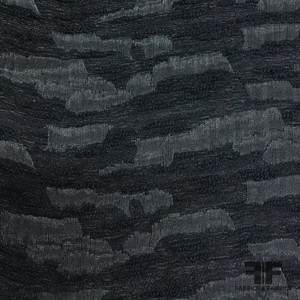 Abstract Open-Weave Brocade - Black - Fabrics & Fabrics