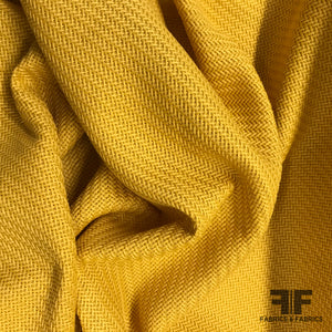 Solid Woven Suiting - Yellow - Fabrics & Fabrics