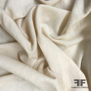 Wool Knit Jersey - Cream - Fabrics & Fabrics