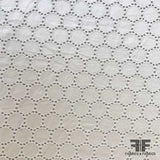Circle Dot Eyelet Cotton - White - Fabrics & Fabrics