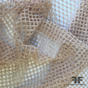 Italian Netting Lattice Guipure Lace - Rose - Fabrics & Fabrics