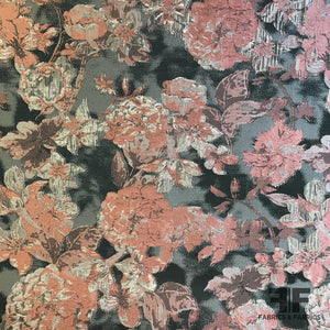 Blooming Florals Brocade - Pink/Beige/Brown