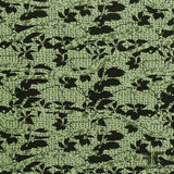 Abstract Textured Brocade - Green/Black