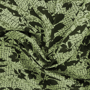 Abstract Textured Brocade - Green/Black - Fabrics & Fabrics