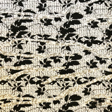 Abstract Textured Brocade - White/Black