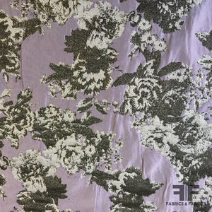 Metallic Floral Brocade - Lilac/Gold