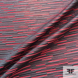 Metallic Striped Brocade- Black/Red
