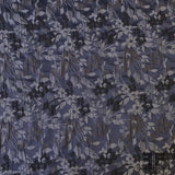 Small Scale Floral Brocade - Blue/Grey - Fabrics & Fabrics
