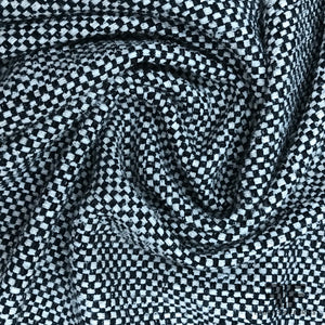 Italian Checkered Suiting - Black/Off-White - Fabrics & Fabrics