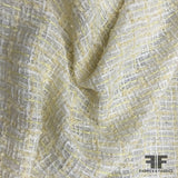 Metallic Boucle Suiting - Yellow/White - Fabrics & Fabrics