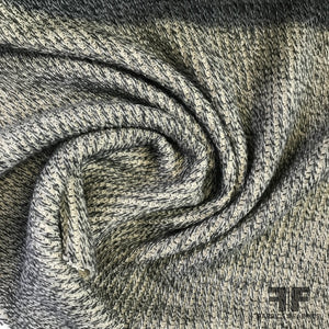 Solid Medium Weight Ribbed Knit - Heather Grey - Fabrics & Fabrics