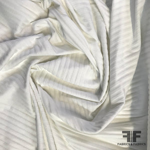 Lightweight Ribbed Knit - White - Fabrics & Fabrics