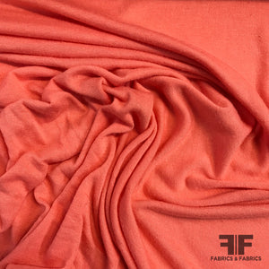 Solid Viscose Knit - Coral