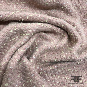 Metallic Wool Tweed - Pink